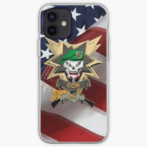 Command and Control North - MACV-SOG CCN Patch over American Flag iPhone Soft Case
