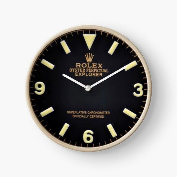 Vintage Explorer Gold Dial Marked Symbol Miyota Dial Clock