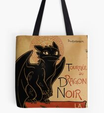 Le Dragon Noir Tote Bag