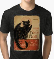 Le Dragon Noir Tri-blend T-Shirt