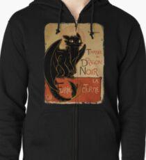 Le Dragon Noir Zipped Hoodie