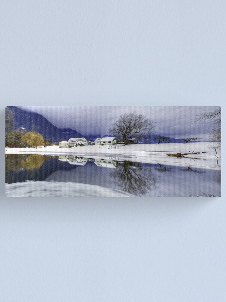 Alternate view of Percy Farm in Winter Canvas Print