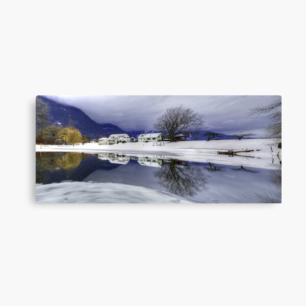 Percy Farm in Winter Canvas Print