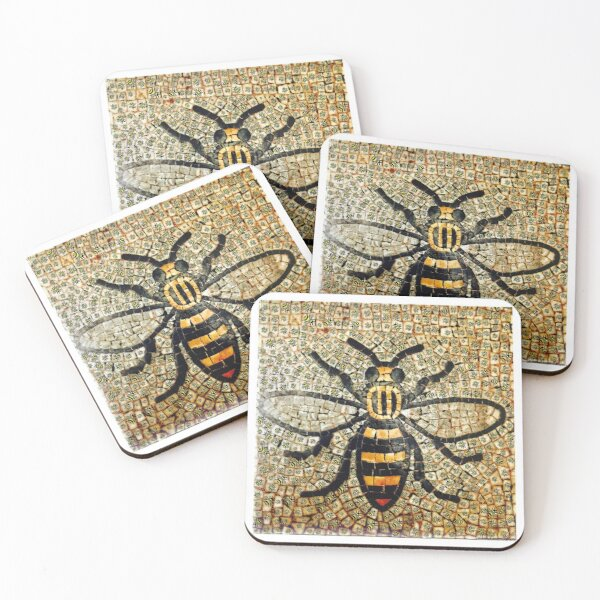 Bee Happy Manchester  Coasters (Set of 4)