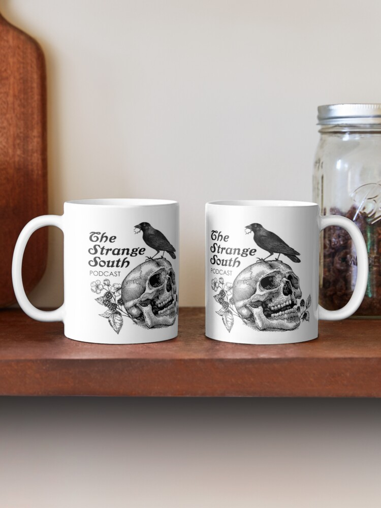 Alternate view of Skull and Crow // The Strange South Podcast Mug