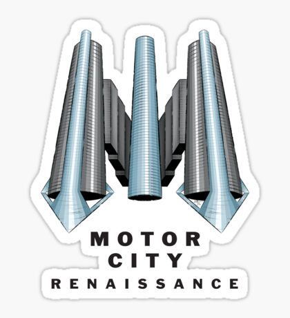 Detroit Motor City Renaissance Sticker