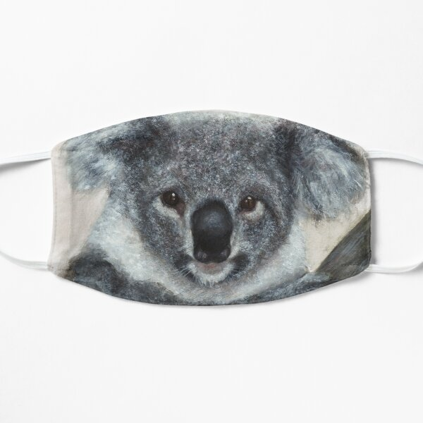 Koala Watercolor Art Flat Mask