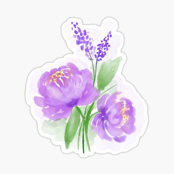Purple Flower Watercolour Sticker
