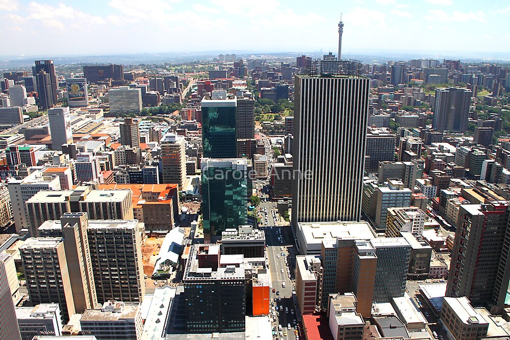 Downtown Johannesburg with Reflective Facades, South Africa by Carole-Anne