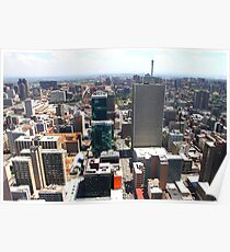 Downtown Johannesburg with Reflective Facades, South Africa Poster