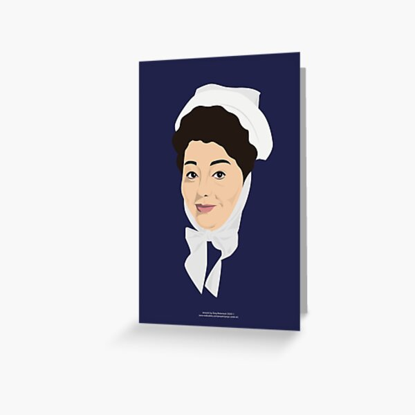 Hattie Jacques as Matron Greeting Card