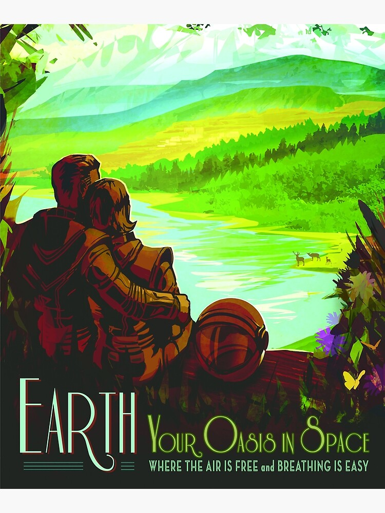 Earth - NASA/JPL Travel Poster by robertpartridge