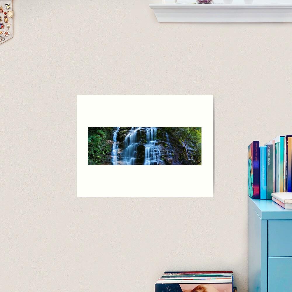 Sylvia Falls, Blue Mountains, New South Wales, Australia Art Print