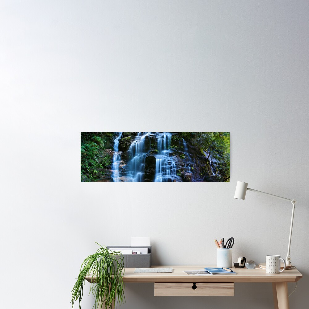 Sylvia Falls, Blue Mountains, New South Wales, Australia Poster