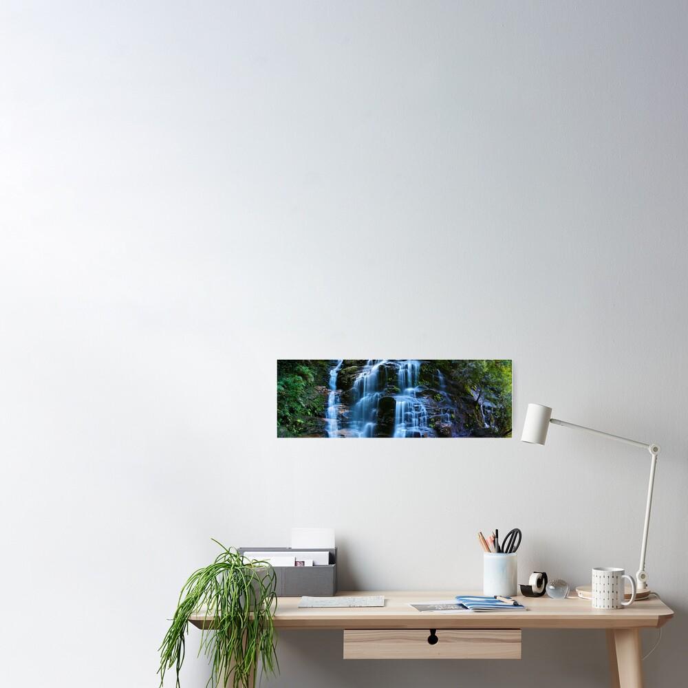 Sylvia Falls, Blue Mountains, New South Wales, Australia Poster
