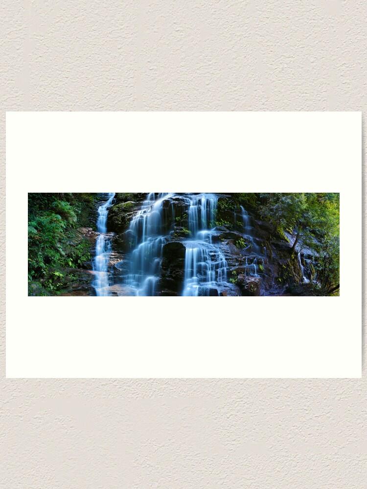 Alternate view of Sylvia Falls, Blue Mountains, New South Wales, Australia Art Print