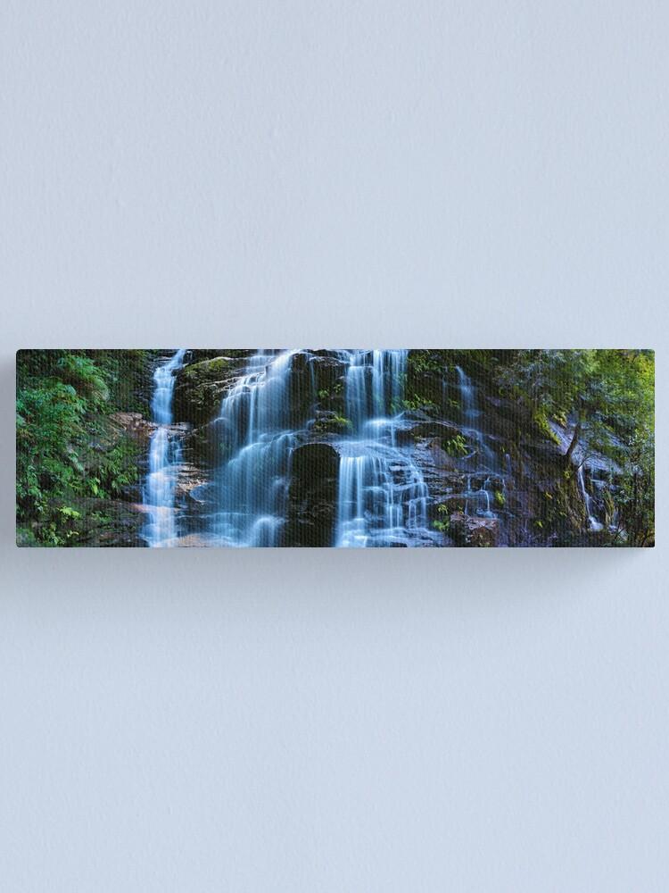 Alternate view of Sylvia Falls, Blue Mountains, New South Wales, Australia Canvas Print