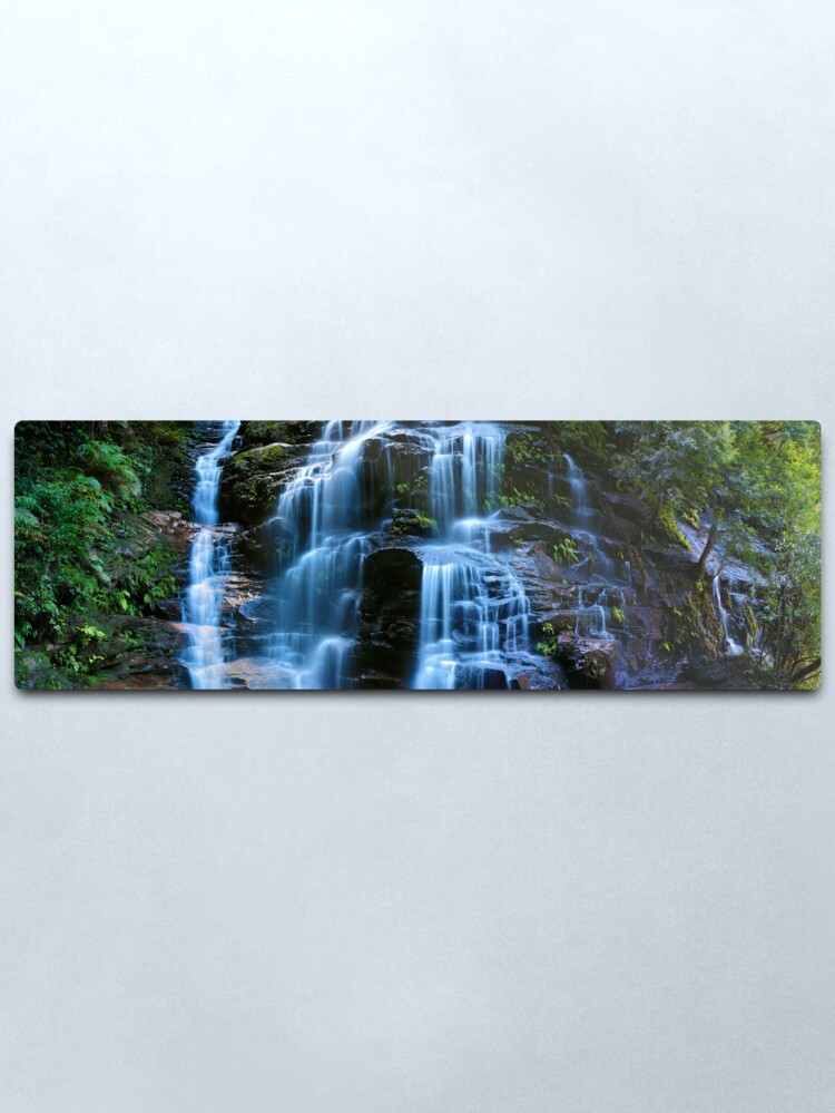 Alternate view of Sylvia Falls, Blue Mountains, New South Wales, Australia Metal Print