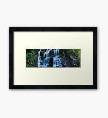 Sylvia Falls, Blue Mountains, New South Wales, Australia Framed Print