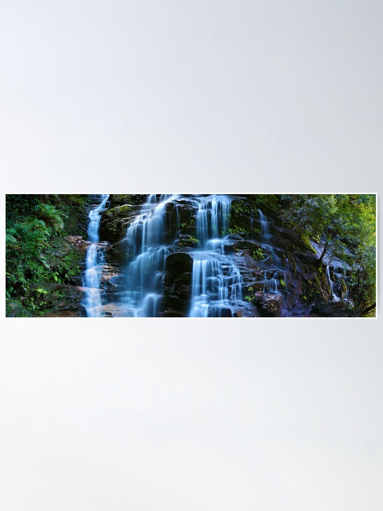 Alternate view of Sylvia Falls, Blue Mountains, New South Wales, Australia Poster