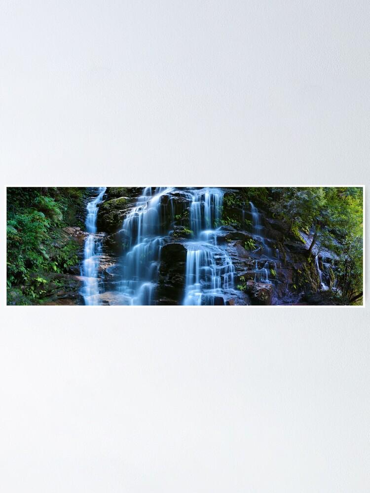 Alternate view of Sylvia Falls, Blue Mountains, New South Wales, Australia Poster