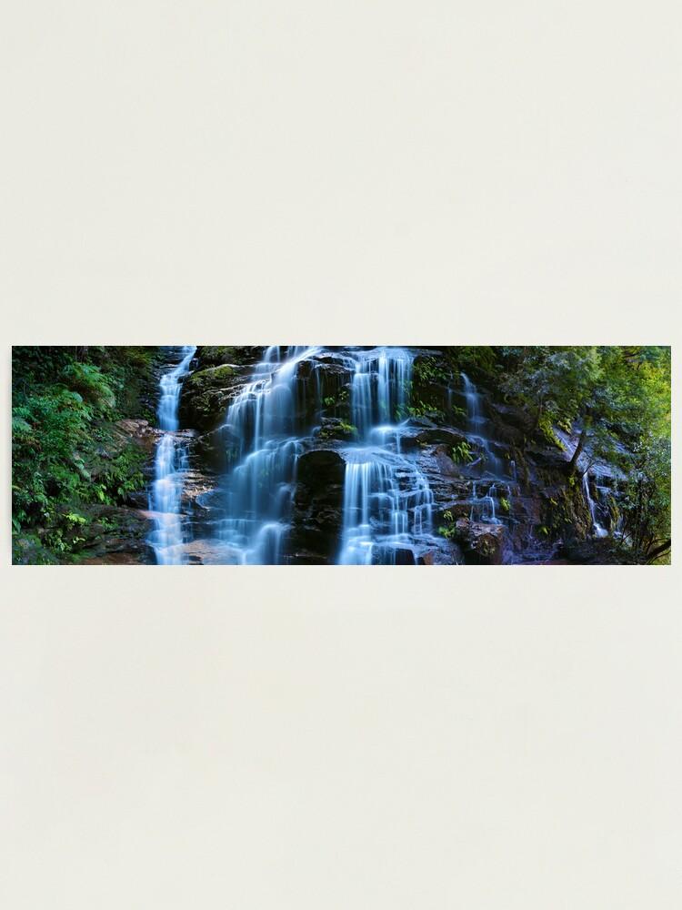 Alternate view of Sylvia Falls, Blue Mountains, New South Wales, Australia Photographic Print