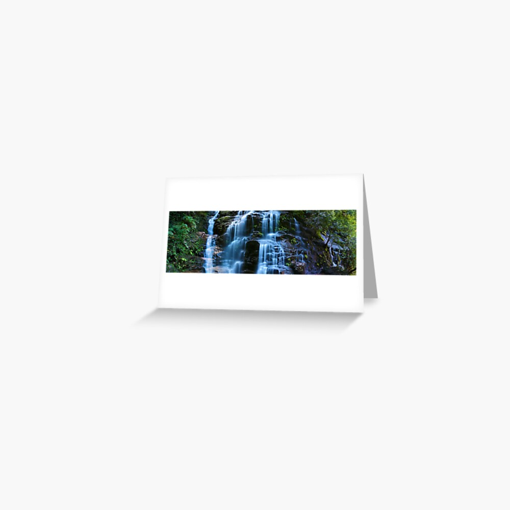 Sylvia Falls, Blue Mountains, New South Wales, Australia Greeting Card