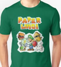 Paper Luigi Colored T-Shirt