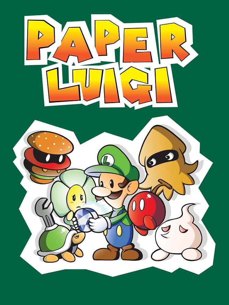 Paper Luigi Colored | Unisex T-Shirt