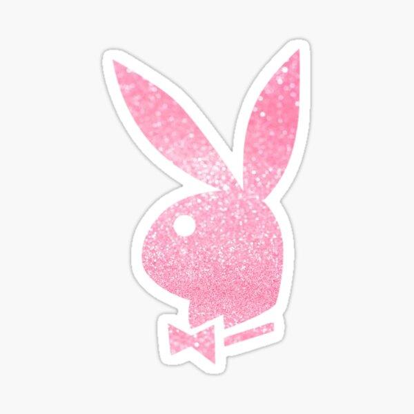 pink glitter playboy Sticker
