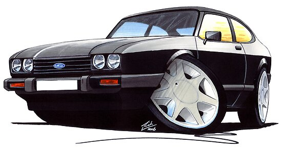 Ford Capri (Mk3) Black by yeomanscarart