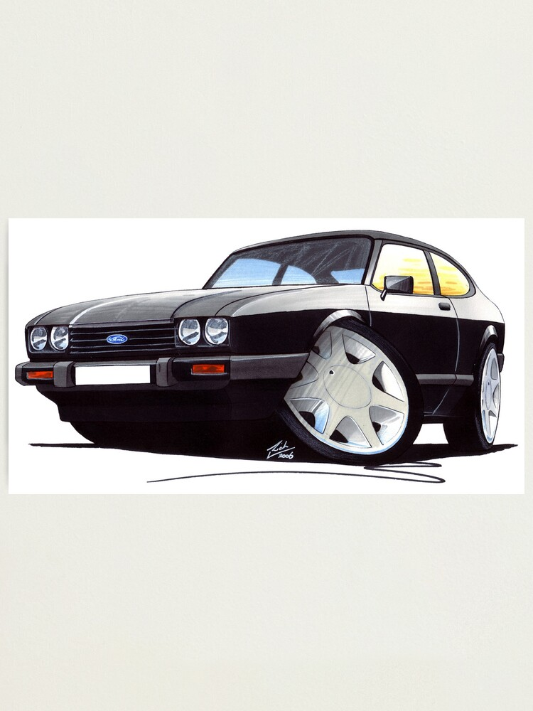 280 Brooklands Caricature Retro Classic Car Art MUG Mk3 Ford Capri