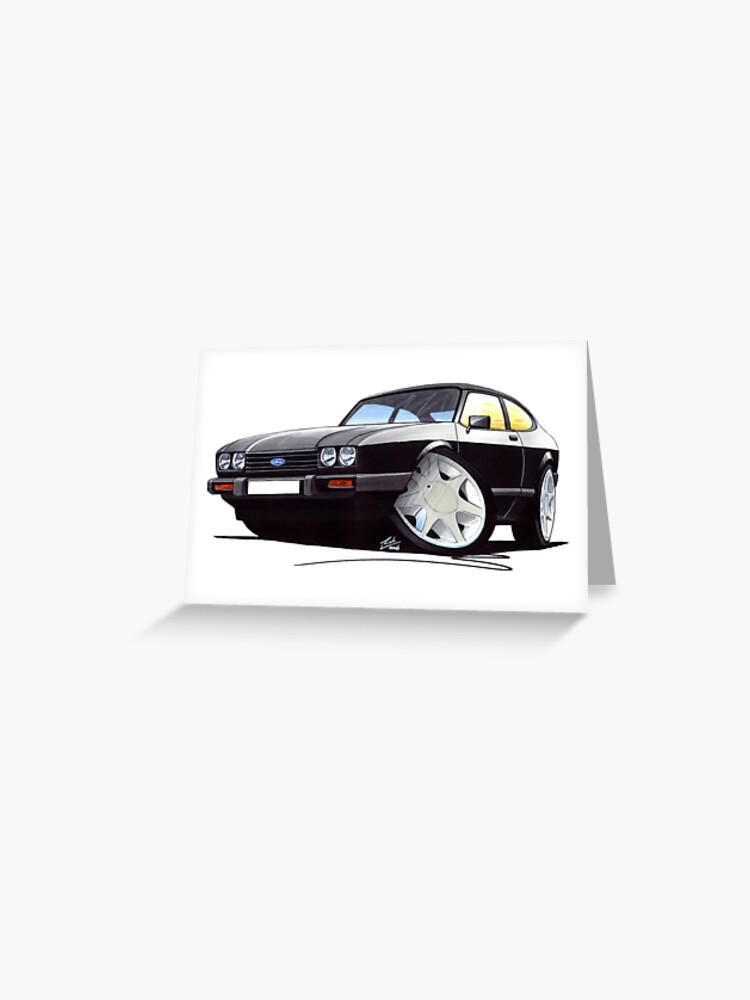 280 Brooklands Caricature Retro Classic Car Art Print Ford Capri Mk3