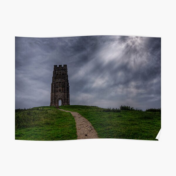 Near the top of Glastonbury Tor Poster