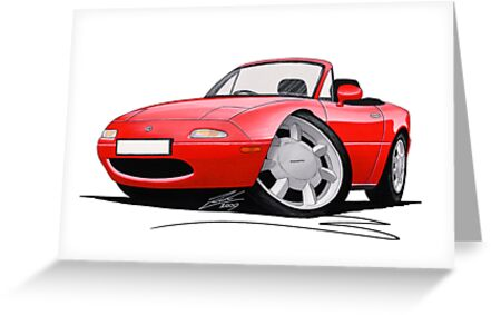 Mazda MX5 / Miata (Mk1) Red by yeomanscarart