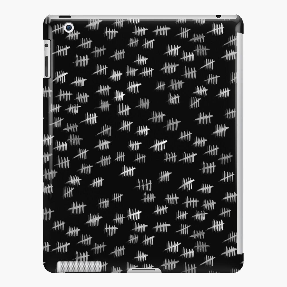 Anticipiating countdown - white on black iPad Case & Skin