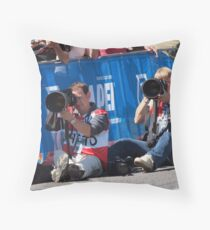 Photographing Photographers. Seated and Sighted. Throw Pillow