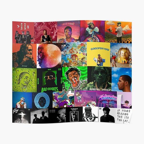 album cover collage Poster