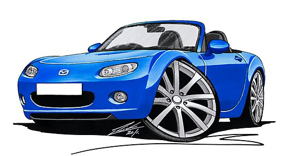 Mazda MX5 (Mk3) Blue by yeomanscarart