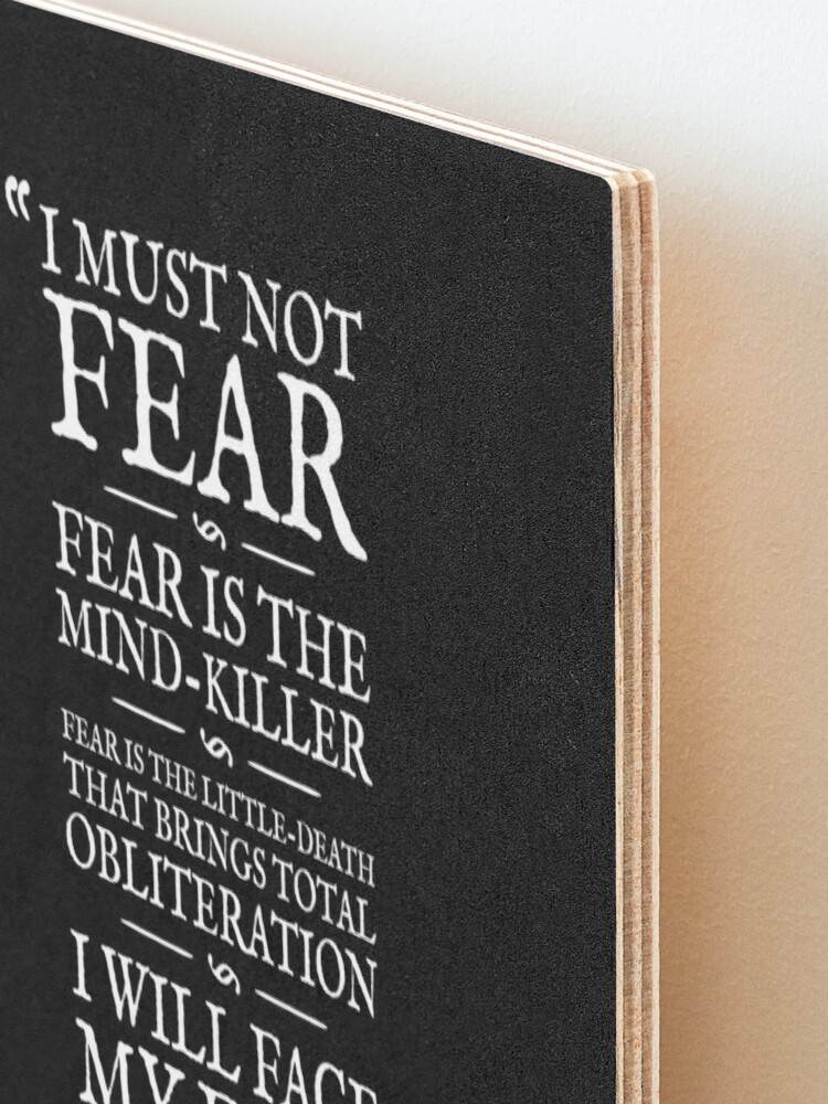 Alternate view of Litany Against Fear Mounted Print