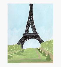 Eiffel Tower, Watercolor and India Ink Photographic Print