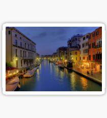 Venice Canal Romantic Night Photo Sticker