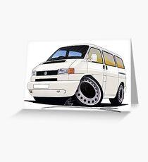 VW T4 White Greeting Card
