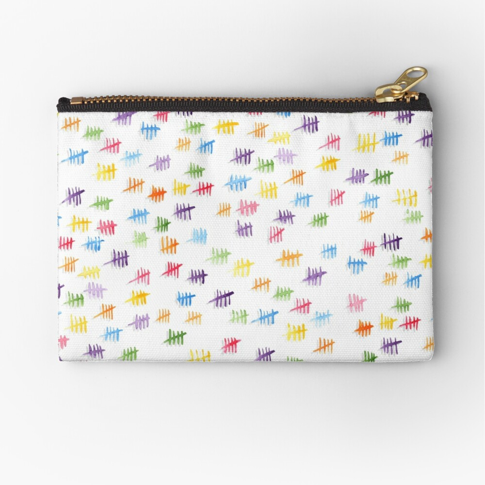 Anticipiating countdown - rainbow colors Zipper Pouch