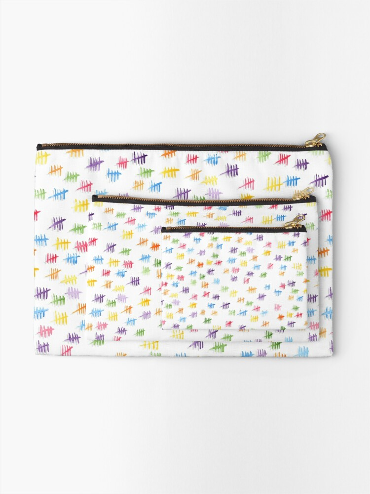 Alternate view of Anticipiating countdown - rainbow colors Zipper Pouch