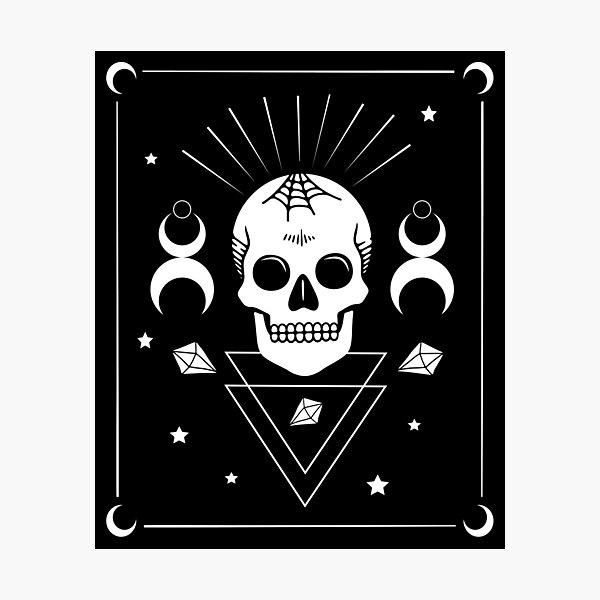 Skull & Witchcraft Symbols • Goth Photographic Print