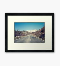 Road with mountain Framed Print