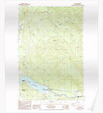 USGS Topo Map Washington State WA Elbe 240977 1987 24000 Poster