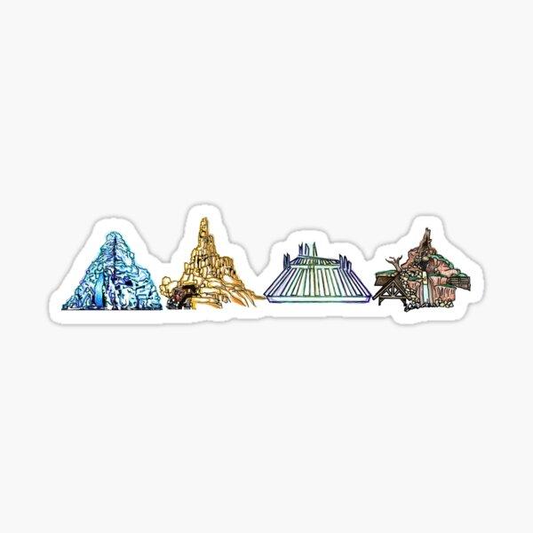 The Mountains  Sticker