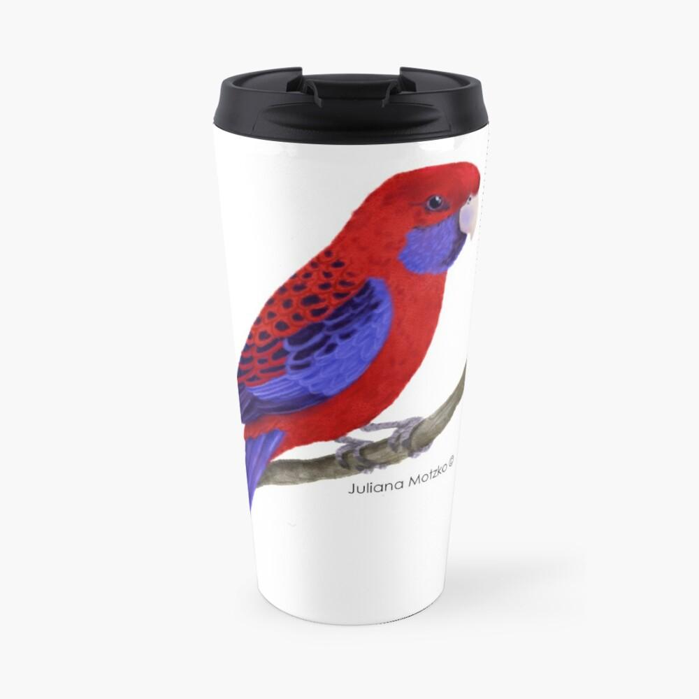 Crimson Rosella Bird Travel Mug
